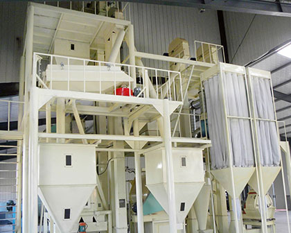 Medium feed pellet production line