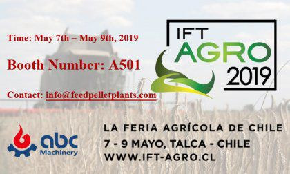 ABC Machinery Will Attend IFT Agro 2019 Held in Chile