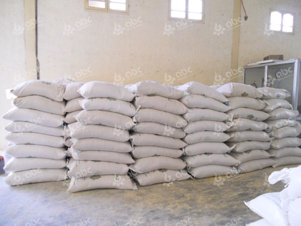 chicken feed pellets in bags