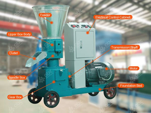 electric small feed pellet mill for sale