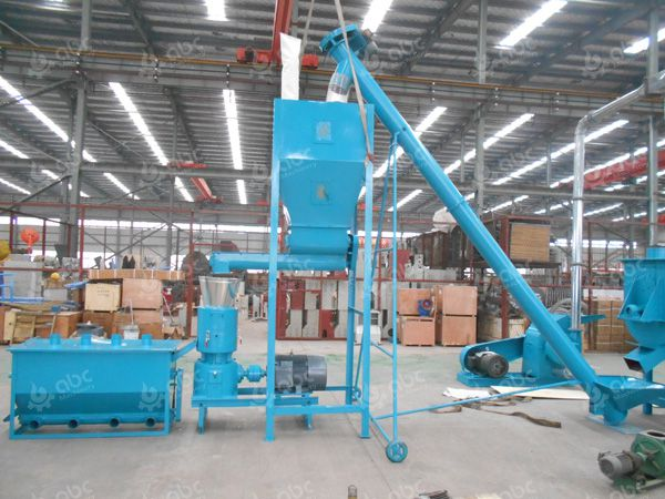 feed pellet plant conveying pelletizing and cooling machines
