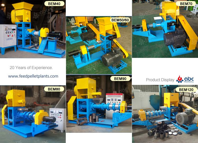 main models feed extruder machines