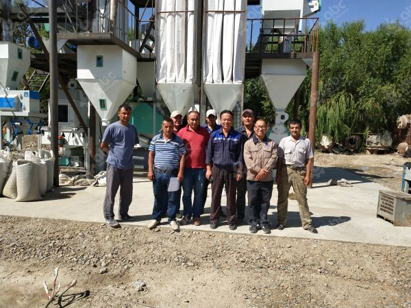 photo taken with feed manufacturing plant client