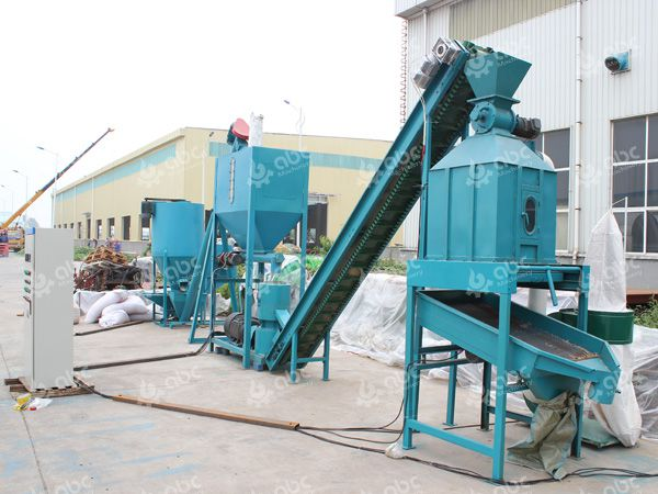 600-1000kg/h small feed pellet plant